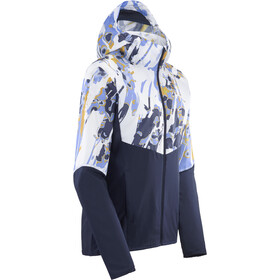 Salomon Agile Full Zip Wind Hoodie Women, night sky/white/ao